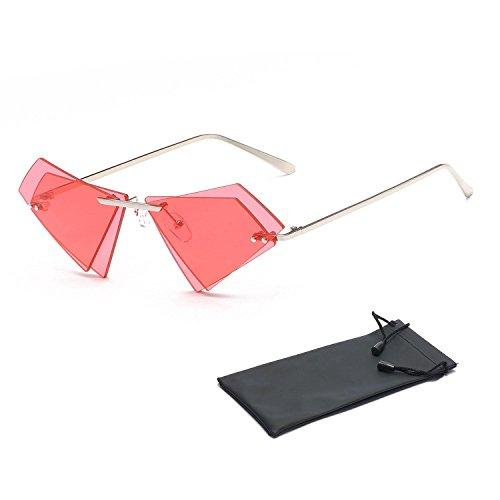 hombre 100 Rojo retro sin sol multicolor para protección estilo polarizadas de gris marco Aolvo y marco de Gafas de con vintage estilo gafas metal mujer sol UV400 Gris wIp6wz1q