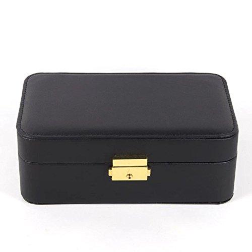 Unionplus Vintage Faux Leather Jewelry Box Organizer For