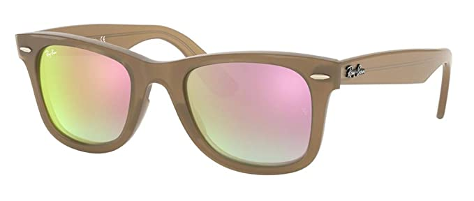 35624b351e Ray-Ban RB4340 WAYFARER 61667Y 50M Beige Grey Brown Mirror Gradient  Sunglasses For Men