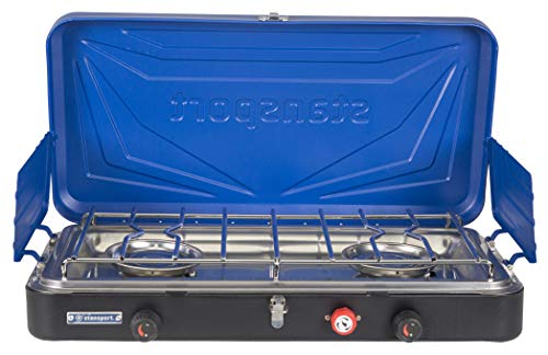 Stansport 212-50 Outfitter Series 2-Burner Propane Camp Stove - Blue
