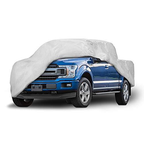 Motor Trend T-800 F150 Weatherproof Custom Fit Truck Cover Compatible with 2001-2019 Ford F-150 Super Cab Short Bed (Outdoor Use UV Protection Waterproof)