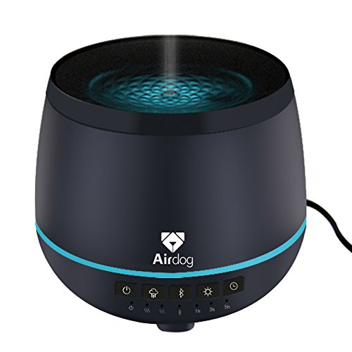 Airdog, Aroma Diffuser, ultrasonic humidifier, Bluetooth Audio, Night Light, Stylish and Elegant, Quiet and Safe, 200ml Water Tank, Patented Water-Proof Wind Channel System, 4 Color Options