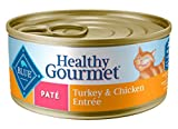 Blue Buffalo Healthy Gourmet Natural Adult Pate Wet Cat Food, Turkey & Chicken 5.5-oz cans (Pack of...