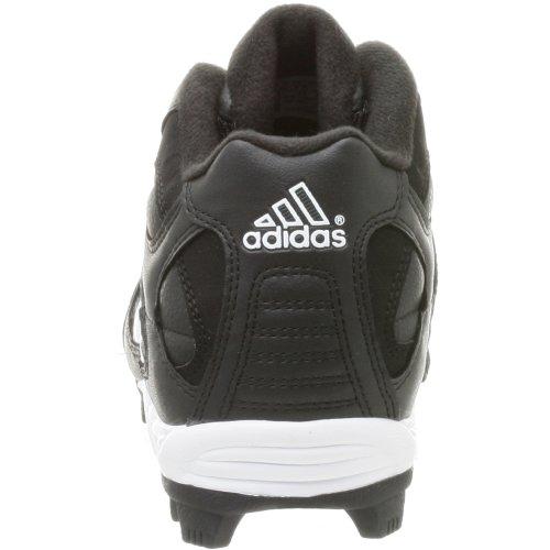 Adidas Menns Trippel Star 5 Mid Baseball Sko Blk / Runwht / Metsil