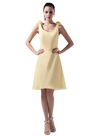 Simple Light Yellow Dresses