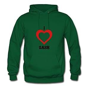 Green Style Personality I Heart Gash Women Funny Sweatshirts X-large