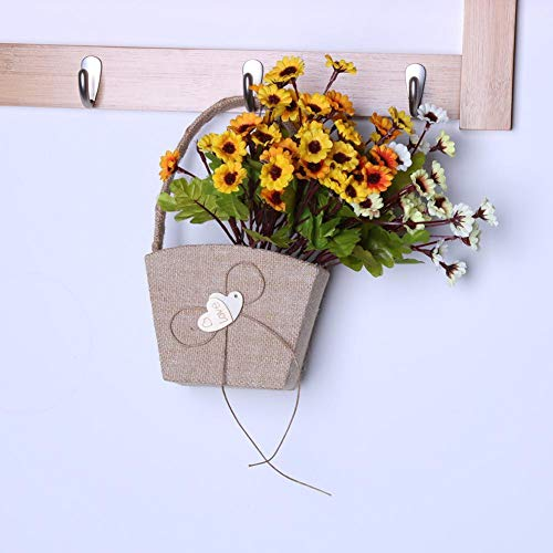 Agordo Wood Double Heart Handheld Girl Empty Flower Basket Wedding Ceremony Party Decor by Agordo (Image #1)