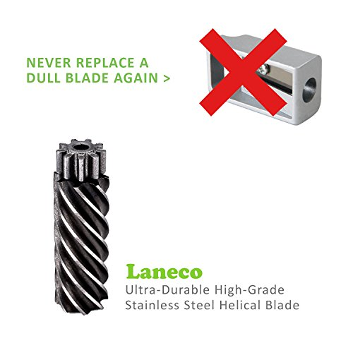 Battery Operated Electric pencil sharpener, Laneco Heavy Duty Helical Blade Pencil Sharpener for Classroom, Office, School, Kids, Teachers, Artists and Adults by Laneco (Image #3)