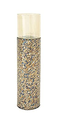 """Deco 79 24018 Metal/Glass/Mosaic Candle Holder, 10"""" x 45"""""""