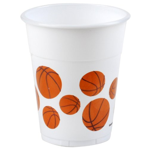 Basketball Fan 14oz Plastic Cups - Cups Basketball Party