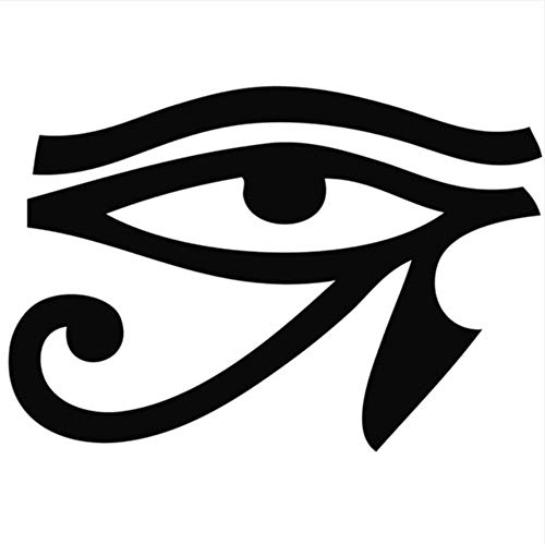 LSFHB 44X62Cm Black PVC Removable Old Egyptian Legend Horus Eye Wall Sticker for Living Room Home Decor Wall Decals Mural Decoration]()