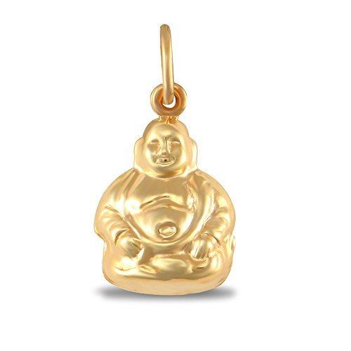 jewelco London femmes 9 Ct Or Jaune Bouddha pendentif breloque JPC224