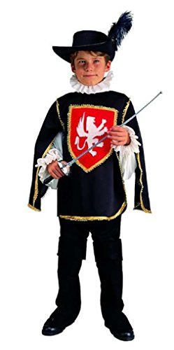 OvedcRay Child Three Musketeer Costume Renaissance Boy Costumes Blue Black Red (3 Musketeers Costumes)