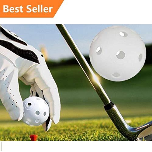 10pcs Mixed Airflow Hollow Perforated Plastic JL Golf Practice Training Balls
