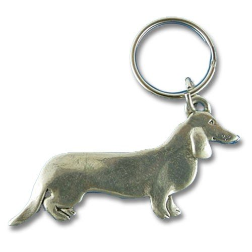 Pewter Dachshund Keychain by The Magic Zoo