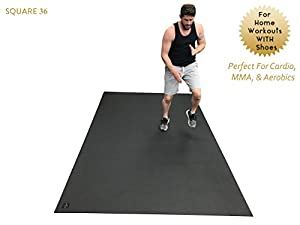 Square36 Large Exercise Mat 10 Ft X 6 Ft (120