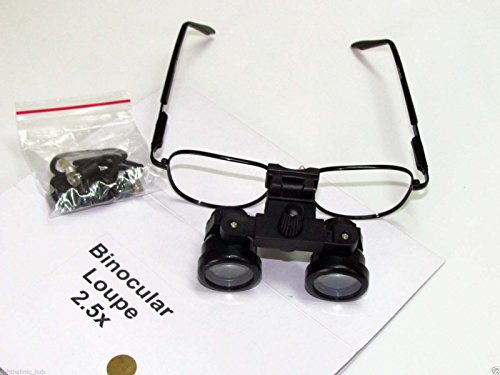 Ophthalmoscope Set Accessories (KASHSURG DENTAL/MEDICAL/SURGICAL/OPTICAL Binocular Loupe 2.5x in Case)