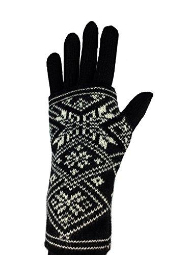 A Pair of 100% Wool Norwegian Gloves and - Gloves Wool Motif