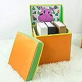 TUMAMA Toy Box Organizer Kids Folding Chairs Foot