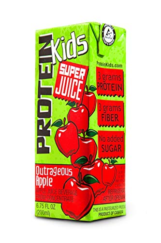 Protein Kids Super Juice Boxes 24 Pack (Outrageous Apple) (Best Protein Fruit Juice)