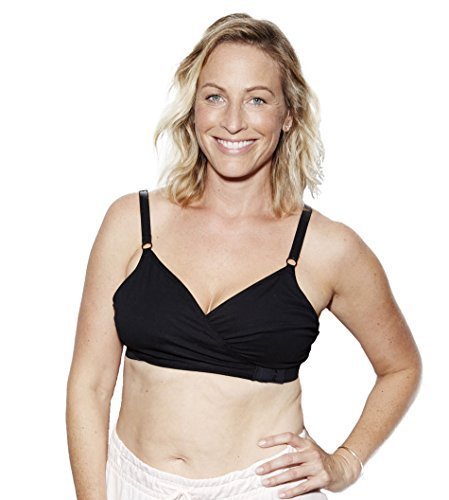 The Dairy Fairy Arden- All-in-One Nursing and Hands-Free Pumping Bra, NAKED Black, Large (Best Naked Breast Pics)