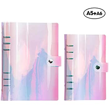 Amazon.com : Aimeio Clear Holographic Planner Binder ...