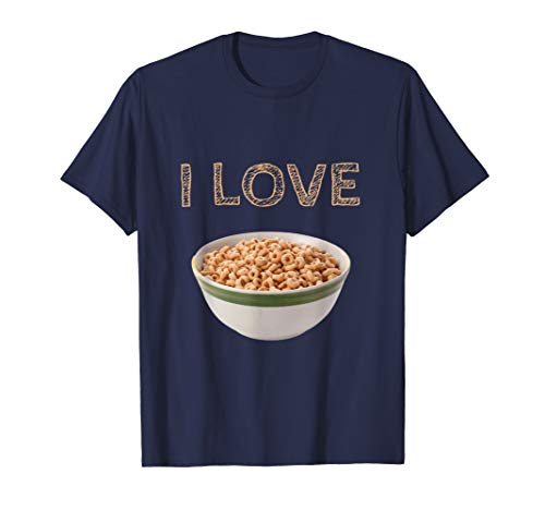 I Love Cereal Funny Graphic Cereal Bowl T-Shirt (Best Super Bowl Munchies)