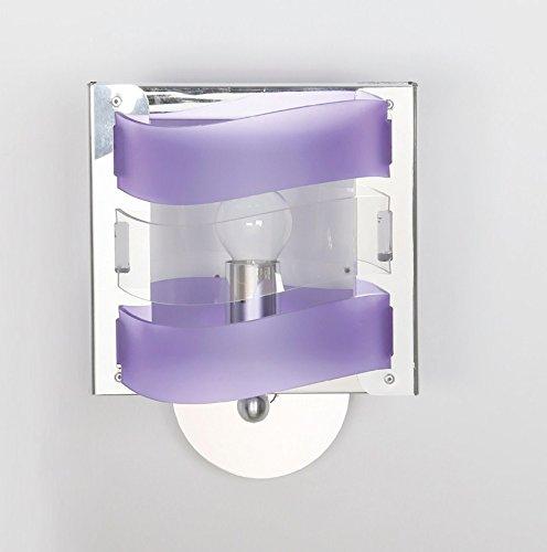 Pareti Glicine Camera Da Letto.Lampada Da Parete In Plexiglass Applique Moderno Colore A Scelta
