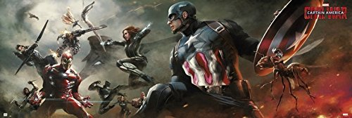 Grupo Erik Editores - Poster per porta, motivo Marvel Captain America Civil War PPGE8015