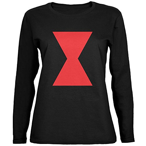 Black Widow Couples Costumes (Halloween Black Widow Black Womens Long Sleeve T-Shirt - 2X-Large)