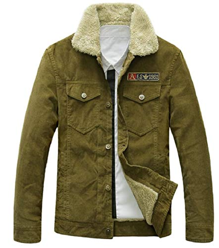 1 security Breasted Jacket Coat Winter Single Men's Lined 0rwZtrq