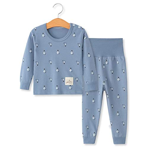 (YANWANG 100% Organic Cotton Baby Boys Girls Pajamas Set Long Sleeve Sleepwear(3M-5T)(Tag55/12-24M,Pattern 7) )