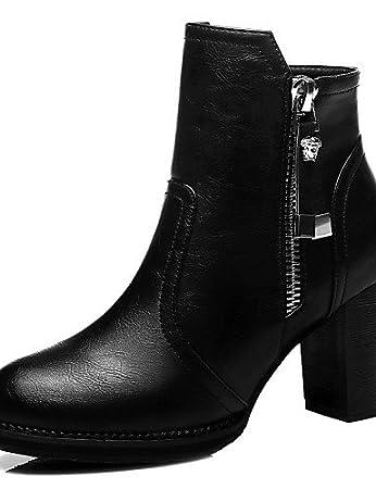 Absatz Schuhe Chunky Ushoe Damen Stiefel Synthetik jSUMVqLzpG