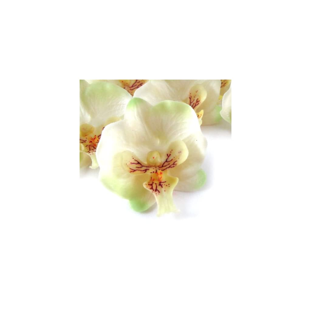 12-Small-Ivory-Phalaenopsis-Orchid-Silk-Flower-Heads-2-Artificial-Flowers-Heads-Fabric-Floral-Supplies-Wholesale-Lot-for-Wedding-Flowers-Accessories-Make-Bridal-Hair-Clips-Headbands-Dress