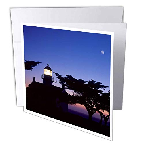 Point Pinos Lighthouse - 3dRose Danita Delimont - Lighthouses - Point Pinos Lighthouse, Pacific Grove, Monterey, California - 12 Greeting Cards with envelopes (gc_314722_2)