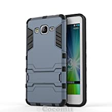 Cocomii Iron Man Armor Galaxy Grand Prime Case NEW [Heavy Duty] Premium Tactical Grip Kickstand Shockproof Hard Bumper Shell [Military Defender] Full Body Dual Layer Rugged Cover for Samsung Galaxy Grand Prime (I.Black)
