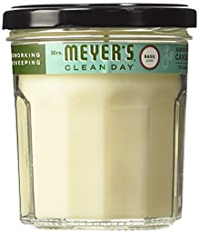Mrs. Meyer\'s Clean Day Soy Candle, Basil, Basil, 7.2 Ounce