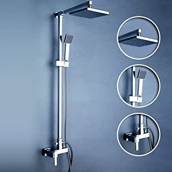 Ouku® Wall Mount Contemporary Shower Faucet with 8 Inch Fixed Shower ...