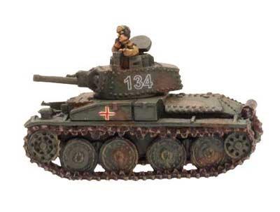 German War Panzer (Flames Of War German Panzer 38(t) B Or C (ge022, Early - Mid War, 1 Figure))