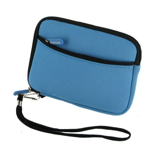 rooCASE SLV2 Neoprene Sleeve (Berry Blue) Carrying Case for Western Digital My Passport Essential SE 750GB Portable Hard Drive WDBACX7500ABK Black, Best Gadgets