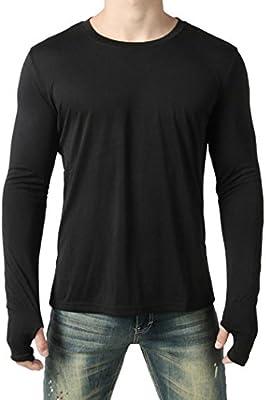 d18c5a651b9a7 WWricotta LuckyGirls Camisetas Hombre Manga Larga Personalidad Conexión de  Guantes Color Sólido Casual Slim Fit Camisas Streetwear Sudaderas Chándales  Ropa ...