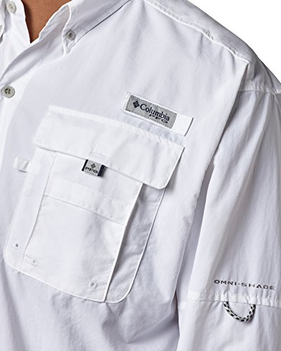 Sleeve White Shirt Big Ii Bahama Men's Long Columbia qzp7AX