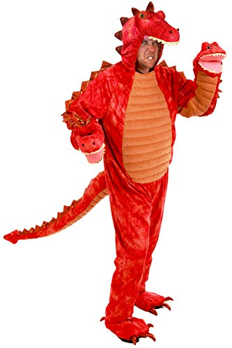 Costume 3 Headed Dragon (Princess Paradise Men's Hydra the 3-Headed Dragon Deluxe Costume, Red,)