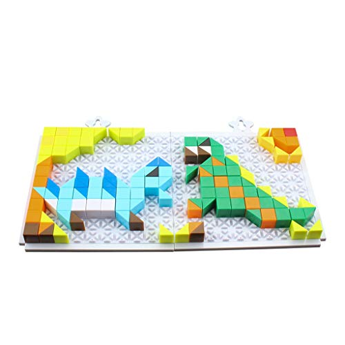 Yeefant 222Pcs Plastic Dinosaur Building Blocks Puzzle Series Kid Puzzle Jigsaw Puzzle Toy Fun DIY Building Blocks -