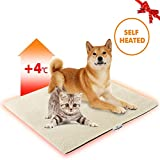 """Image of Focuspet Cat Thermal Mat, Pet Heating Pad Dog Bed Mat 28""""x20"""" Self Heating Pad Dog Cat Bed Pad for Dogs & Cats Waterproof Innovative & Eco Friendly"""