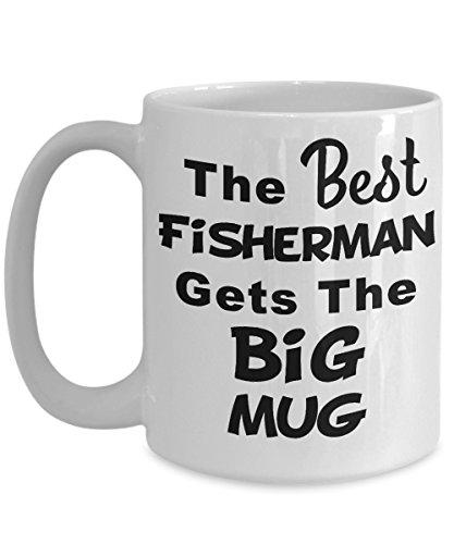 (I Love Fishing Mug, Retirement Fishing Gifts - The Best Fisherman Gets The Big Mug - Dad Fishing Gifts, Funny Fishing Gifts, Gift Fishing, GONE Fishin)
