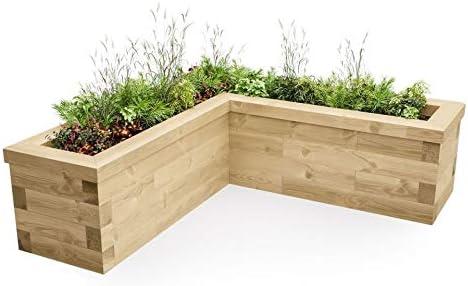 WoodBlocXTM - Camas elevadas en Forma de L: Amazon.es: Jardín