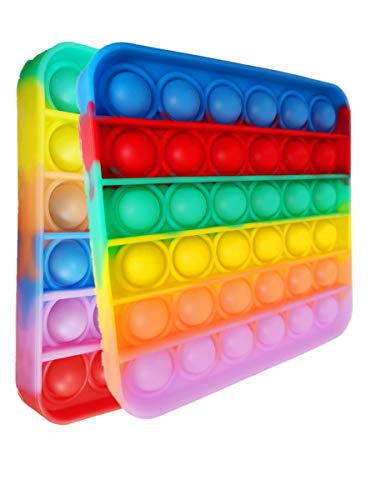 2Pcs Different Rainbow Food Silicone Push Bubble Gadget Toys Toys,Stress Relief Toys