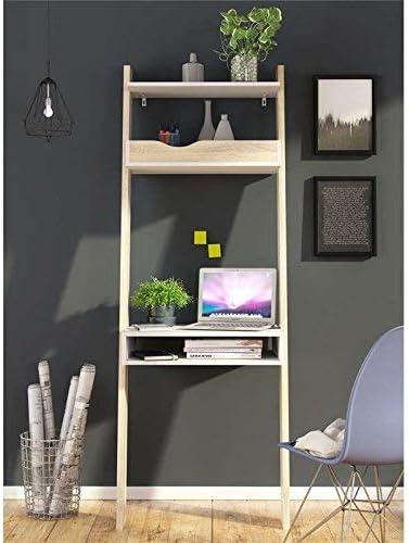 White//Oak Structure Tvilum 7538949ak Diana Leaning Bookcase Desk