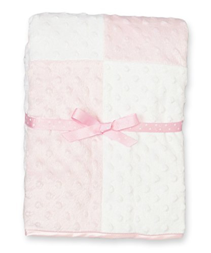 Spasilk Baby-Girls Newborn Minky Raised Dot Blanket with Satin Trim, Pink, 30 Inchx40 Inch